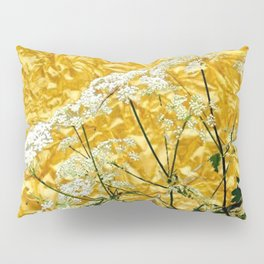 GOLDEN LACE FLOWERS FROM SOCIETY6 BY SHARLESART. Pillow Sham