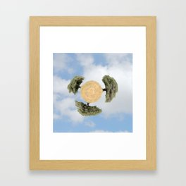 """Worlds in Jerusalem"" - Olive Trees Framed Art Print"