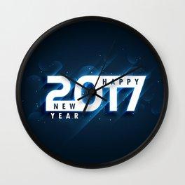 Happy New Year 2017 Wall Clock