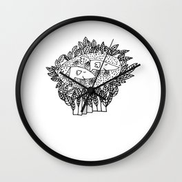 Norris & Nora   We are Bird Boots Wall Clock