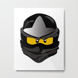 Ninjago face Cole Metal Print