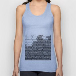 Brick Wall Grayscale Unisex Tank Top