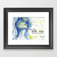 Nothing Is Mutual Framed Art Print