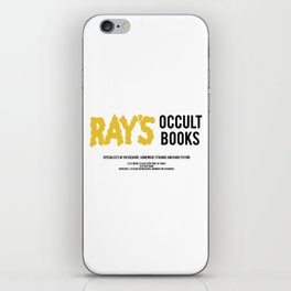 Ray's Occult Books Ghostbusters tribute iPhone Skin