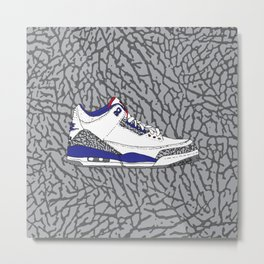 Jordan 3 True Blue Metal Print