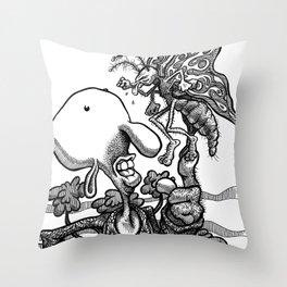 Burtyfly Bzzed Barney Throw Pillow