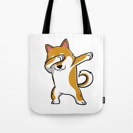 Funny Shiba Inu Dabbing Tote Bag