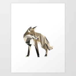 the sad fox Art Print