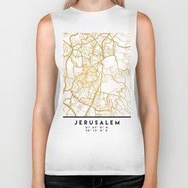 JERUSALEM ISRAEL PALESTINE CITY STREET MAP ART Biker Tank