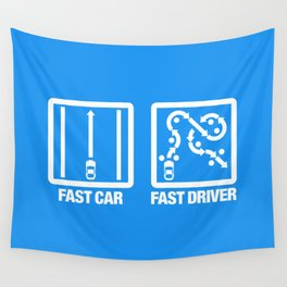 Fast Car - Fast Driver v4 HQvector Wall Tapestry