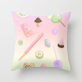 Weeaboo Candy Throw Pillow