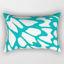 Wings: Turquoise Rectangular Pillow
