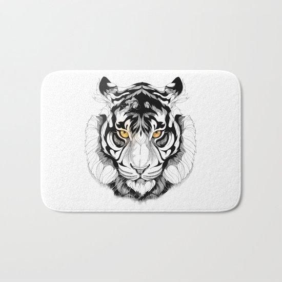 Tiger (black stroke version for t-shirts) Bath Mat