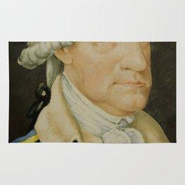 Vintage George Washington Portrait Painting (1800) Rug