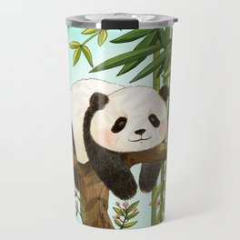 Panda under sunlight - Mint Travel Mug