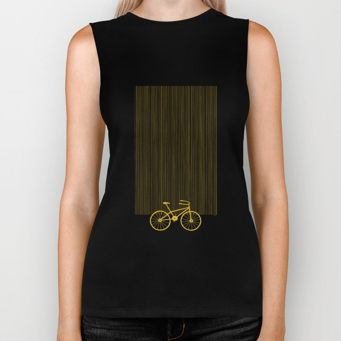Yellow Bike by Friztin Biker Tank