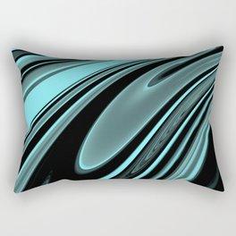 Floating Aqua Rectangular Pillow