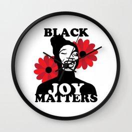 Black Joy Matters Wall Clock