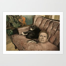 Still Life with Arnold Schwarzenegger Art Print