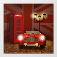 british Canvas Prints featuring British RED by Monika Juengling