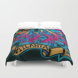 ATL Graffiti Duvet Cover