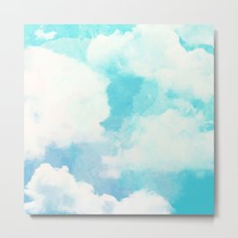 FLOATING AMONGST THE CLOUDS IN WATERCOLORS Metal Print