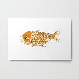 Koi Orange Metal Print