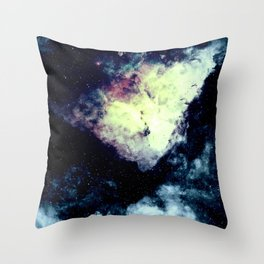Teal Carina Nebula Throw Pillow