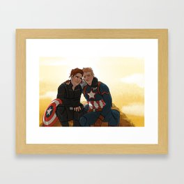 Tired Boys Framed Art Print