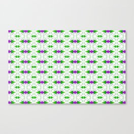 Grapevine Purple Cluster Grape Leaf Vegetation Pattern Canvas Print