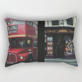 Red bus and a candy store - London Rectangular Pillow