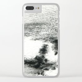 Black/white#2 Clear iPhone Case