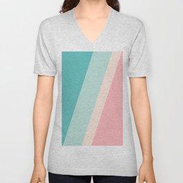 Pastel Stripes Unisex V-Neck