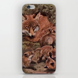 Vintage Fox and Cuba Painting (1909) iPhone Skin