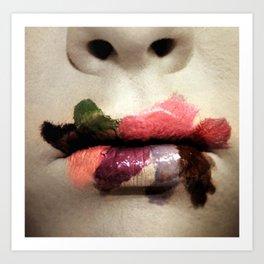 Painted Lips. Art Print