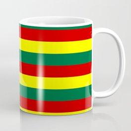 red green yellow stripes Coffee Mug