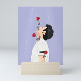 Man With Roses Mini Art Print