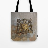 medieval Tote Bags featuring Medieval Flair by Imaginibus