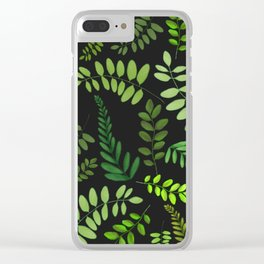 plant pattern updated Clear iPhone Case