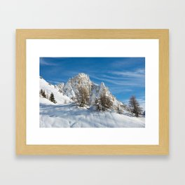 Alpine Mountain, Les Arcs Resort Framed Art Print