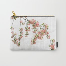 Pink and Green Apple Blossoms Carry-All Pouch
