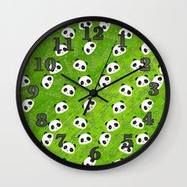 Panda and Bamboo Wall Clock