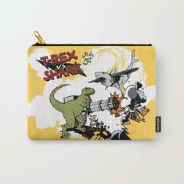 T-Rex VS Shark  Carry-All Pouch