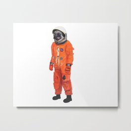 Space Pug Metal Print