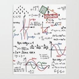 Math Cheat Sheet Poster
