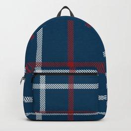 Red, White & Blue Plaid Tartan Pattern Backpack