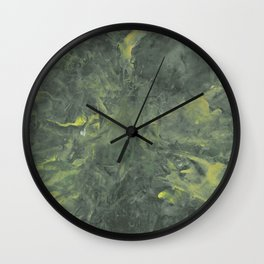Green and Yellow Storm Wall Clock