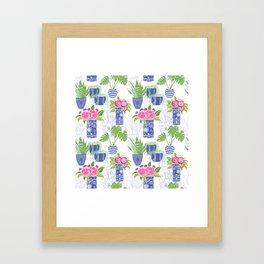 Chinoiserie Cactus Framed Art Print