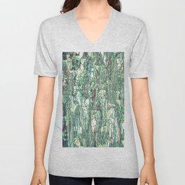 Abstract green Unisex V-Neck