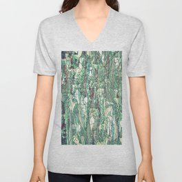 Abstract green Unisex V-Neck